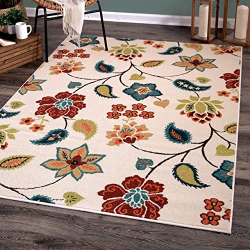 Orian Rugs Garden Chintz Area Rug, 9 x 13 , Ivory
