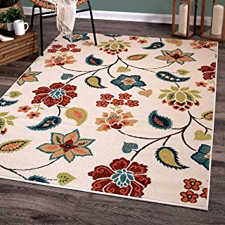 product image for Orian Rugs Garden Chintz Area Rug, 9' x 13', Ivory