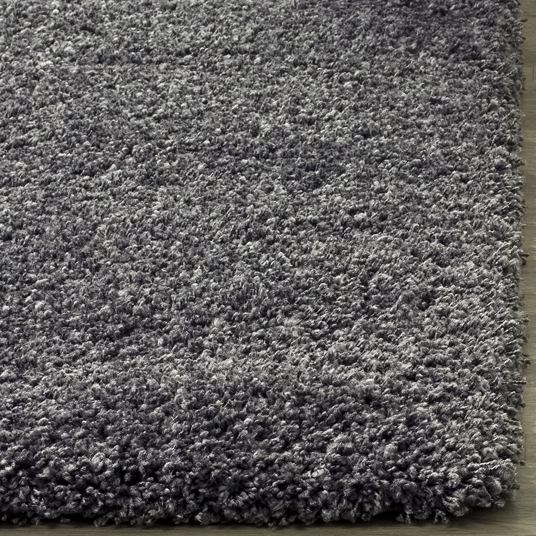 amazoncom safavieh california shag collection 11u0027 x 15u0027 area rug dark grey home improvement