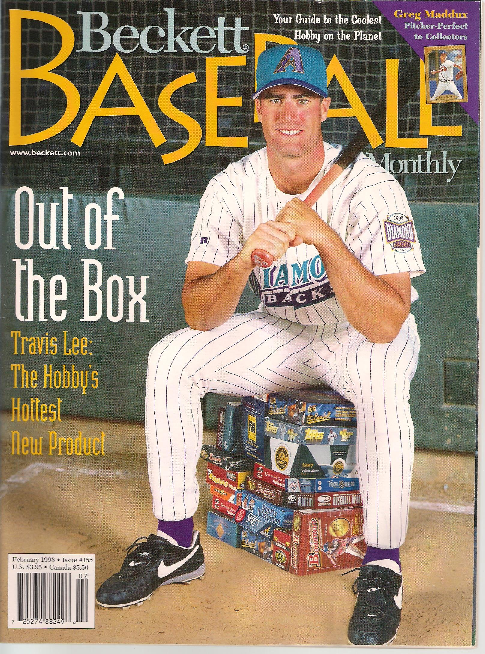 Beckett Baseball Card Monthly February 1998 Issue 155 Out
