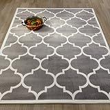 Amazon Price History for:Ottomanson Paterson Collection Grey Contemporary Moroccan Trellis Design Lattice Area Rug