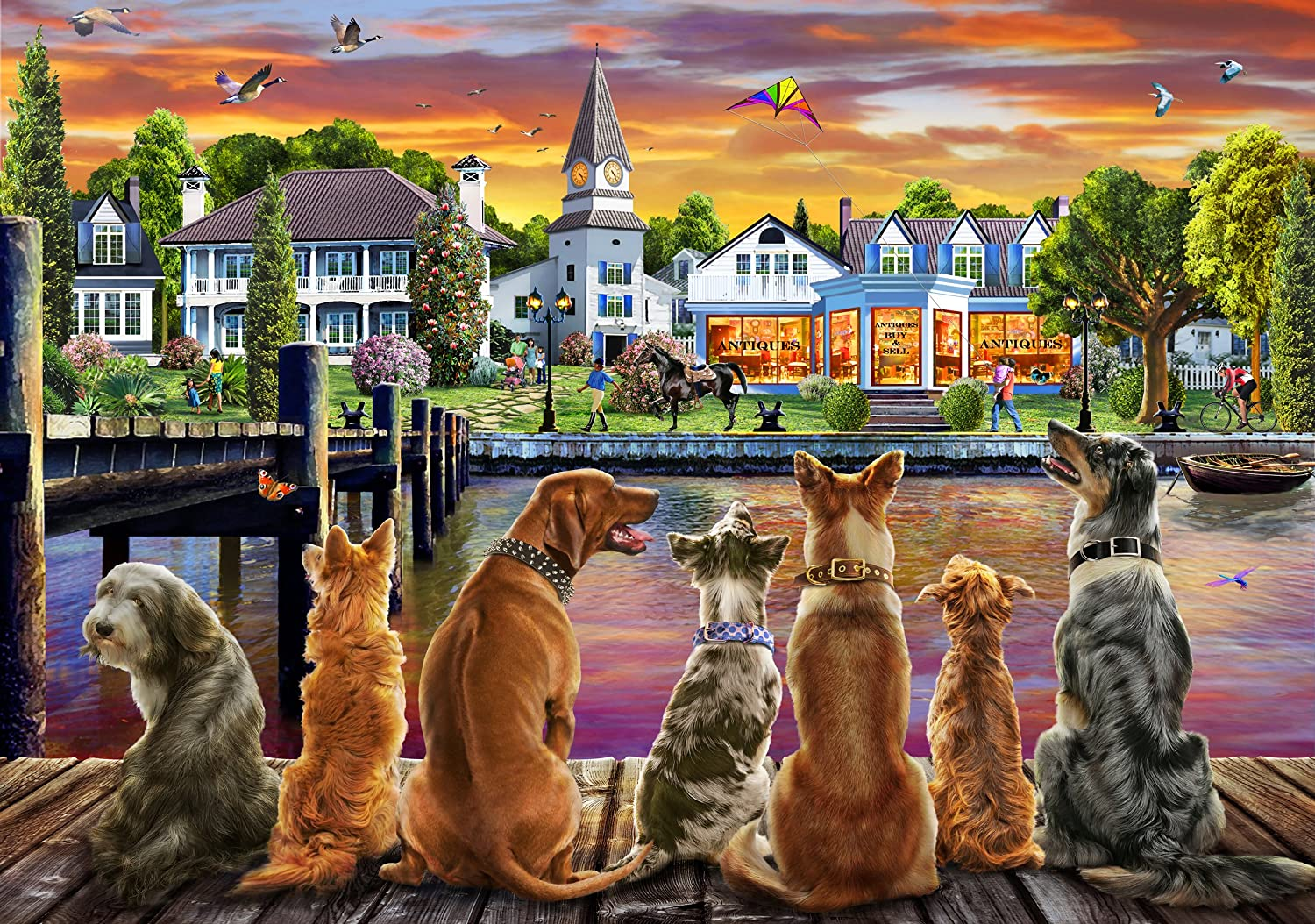 250pc Wentworth Wooden Jigsaw Puzzles - the Dogs on the Puzzles 250pc Quay B079VFL3SW, インナー下着通販のキナズ:a89cb4b6 --- ero-shop-kupidon.ru