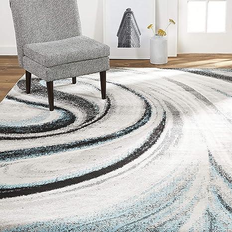 Amazon Com Home Dynamix Modern Abstract Area Rug 7 9 X10 2 Rectangle Mutli Blue Furniture Decor