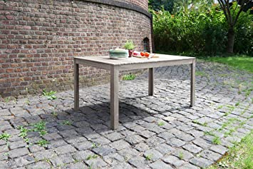 ribelli® Hawaii Table de jardin en bois - Table à manger Gris pour ...