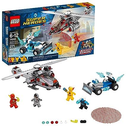 Amazoncom Lego Dc Super Heroes Speed Force Freeze Pursuit 76098