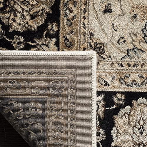 Safavieh Persian Garden Collection PEG608D Traditional Ivory and Black Viscose Area Rug 5'1″ x 7'7″