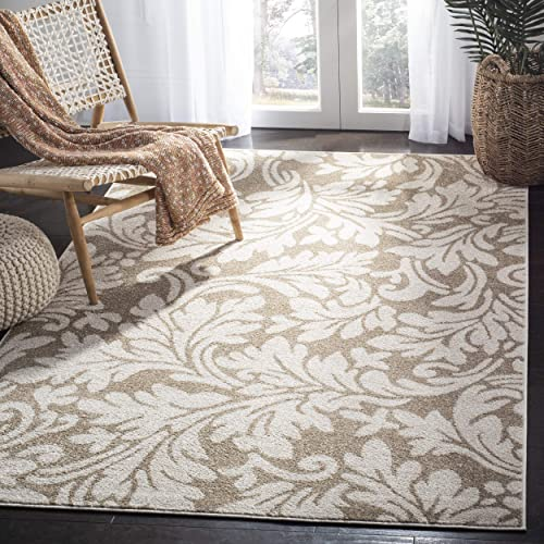 Safavieh Amherst Collection AMT425S Floral Area Rug, 9 x 12 , Wheat Beige