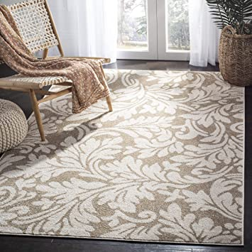 Amazon Com Safavieh Amherst Collection Amt425s Wheat And Beige