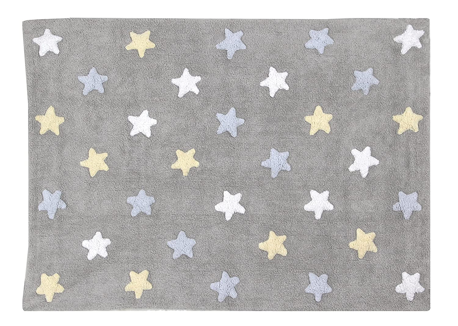Lorena Canals Tricolour Stars Washable Rug (Grey/Blue) Tricolor Stars Grey - Blue C-ST-B