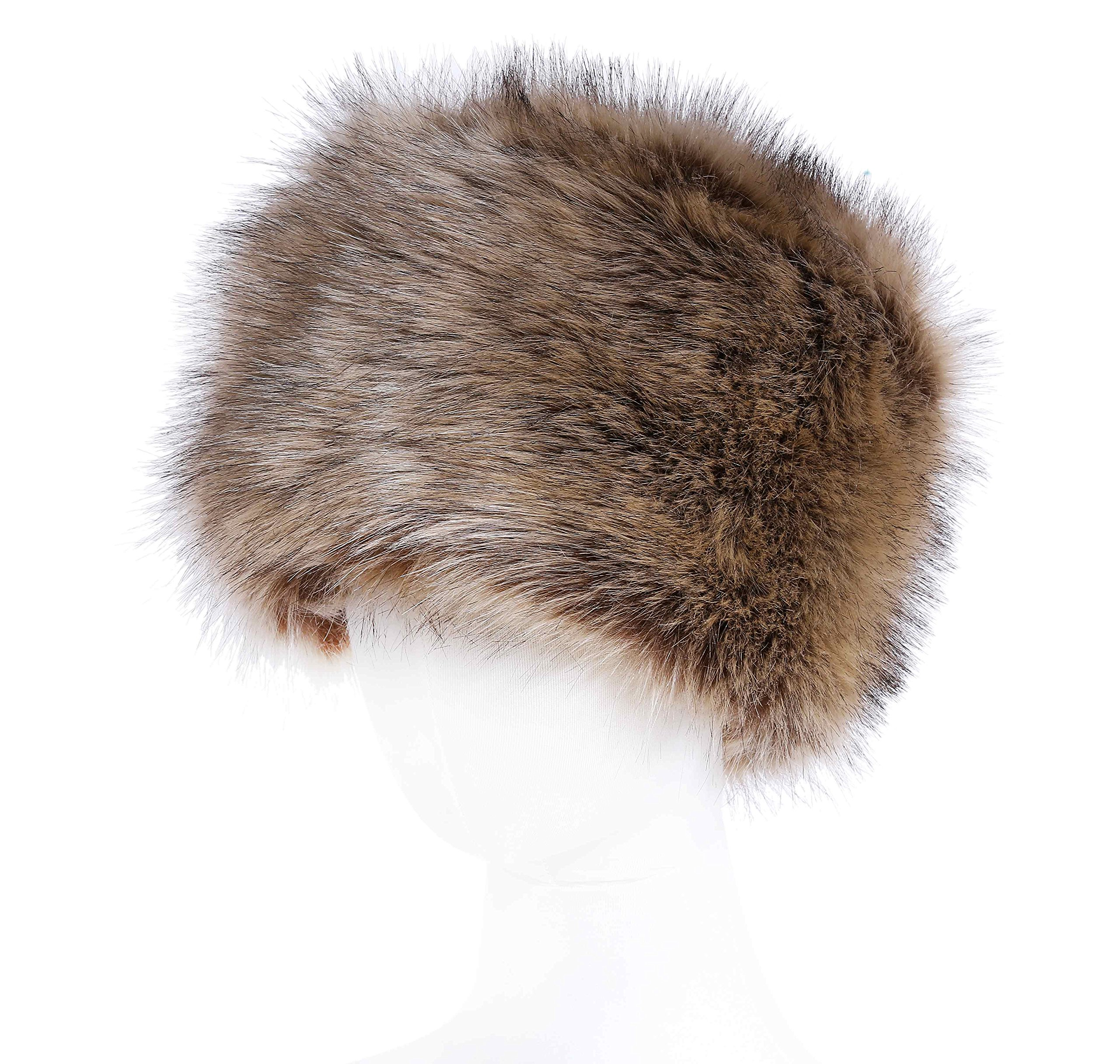 Soul Young Women's Winter Faux Fur Cossak Russian Style Hat (one size, Nature)