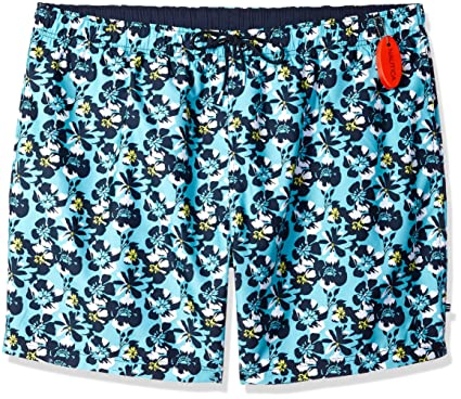 dbf22e6a0d1df9 Amazon.com: Nautica Big and Tall Quick Dry Full Elastic Waist Signature  Print Swim Trunk: Clothing