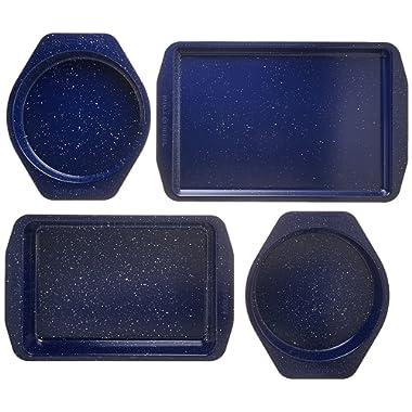 Paula Deen 46812 Nonstick Bakeware Set, Deep Sea Blue Speckle