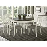 7 piece round dining set counter height everhome designs vegas piece round to oval extension dining table set for amazoncom hillsdale furniture 7pc in old white