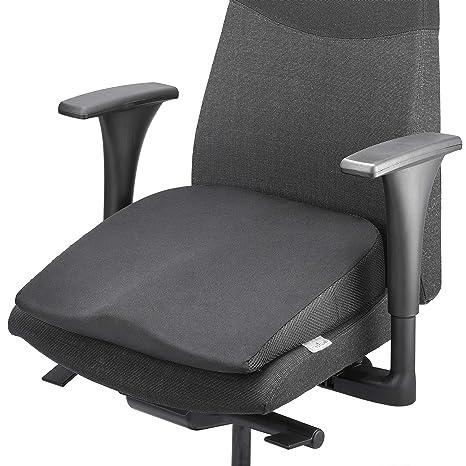 MEDIWELL Cojín de cuña | Cojín de asiento ortopédico y ergonómico | Cojín de asiento Viscoelástico