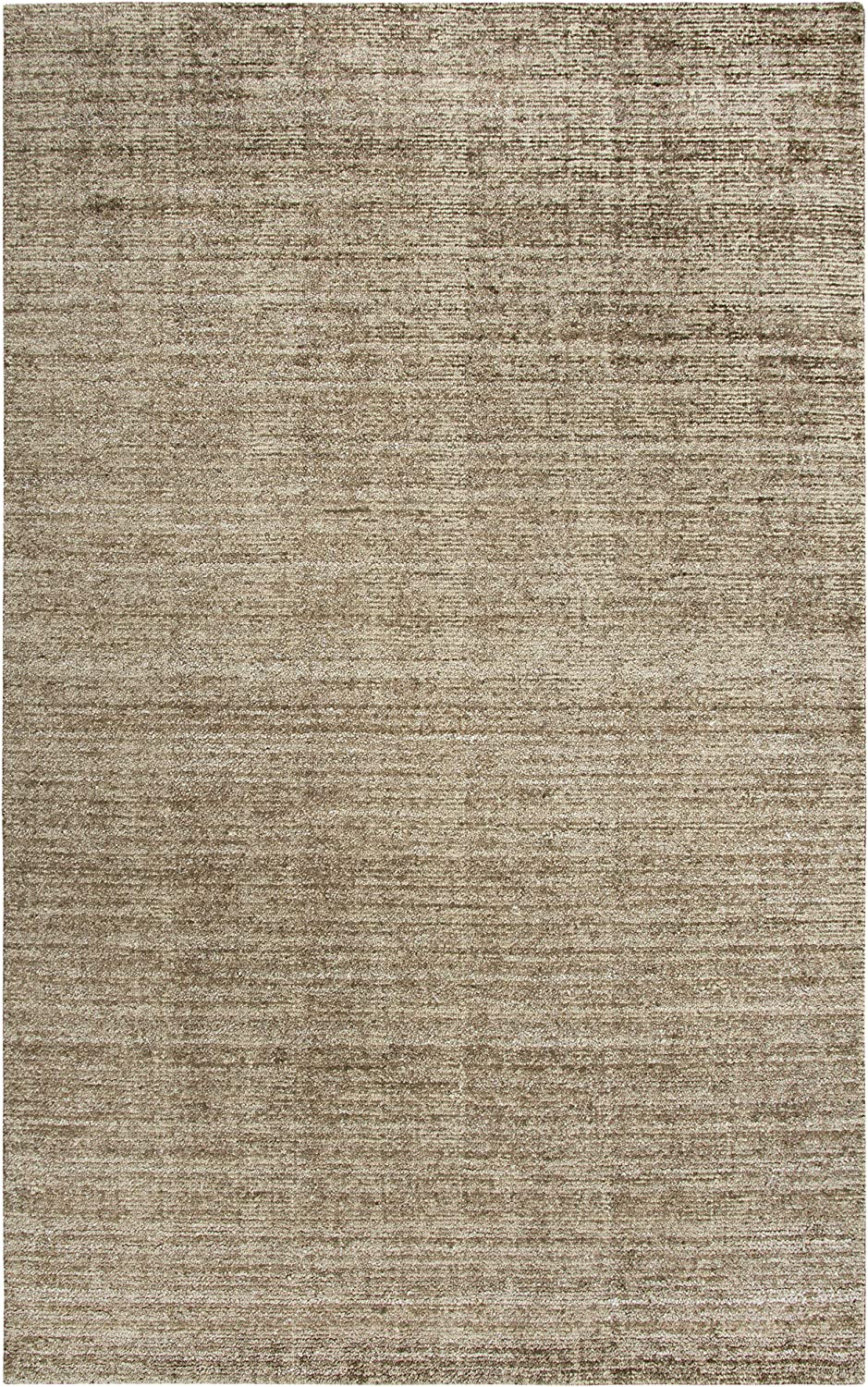 Rizzy Home Grand Haven Collection Wool/Viscose Area Rug, 9' x 12', Lt. Brown/Gray/Rust/Blue