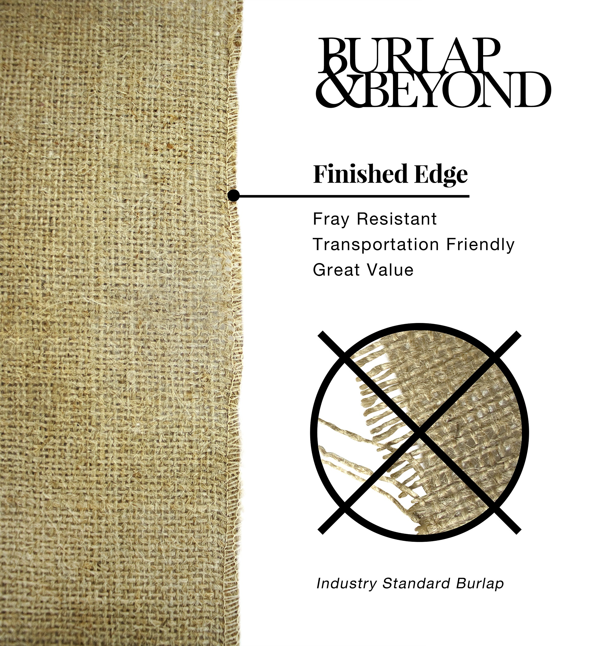 14'' No-Fray Burlap Roll Table Runner, 14 inches by 50 Yards, Placemat, Craft Fabric by Burlap and Beyond LLC (Image #3)