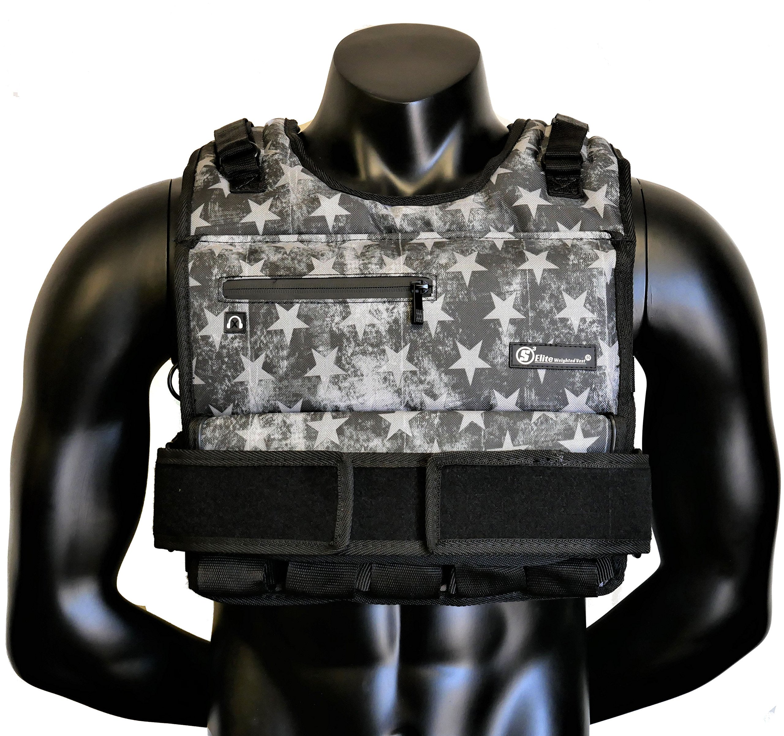 Strength sport systems Weight Vest (Short) - Premium Quality - Best for Cross fit Training - Running - Jogging - Fully Adjustable (S pro Weight Vest) (Elite II - S.T Camo, 80lbs(Iron bar Set)) by Strength sport systems