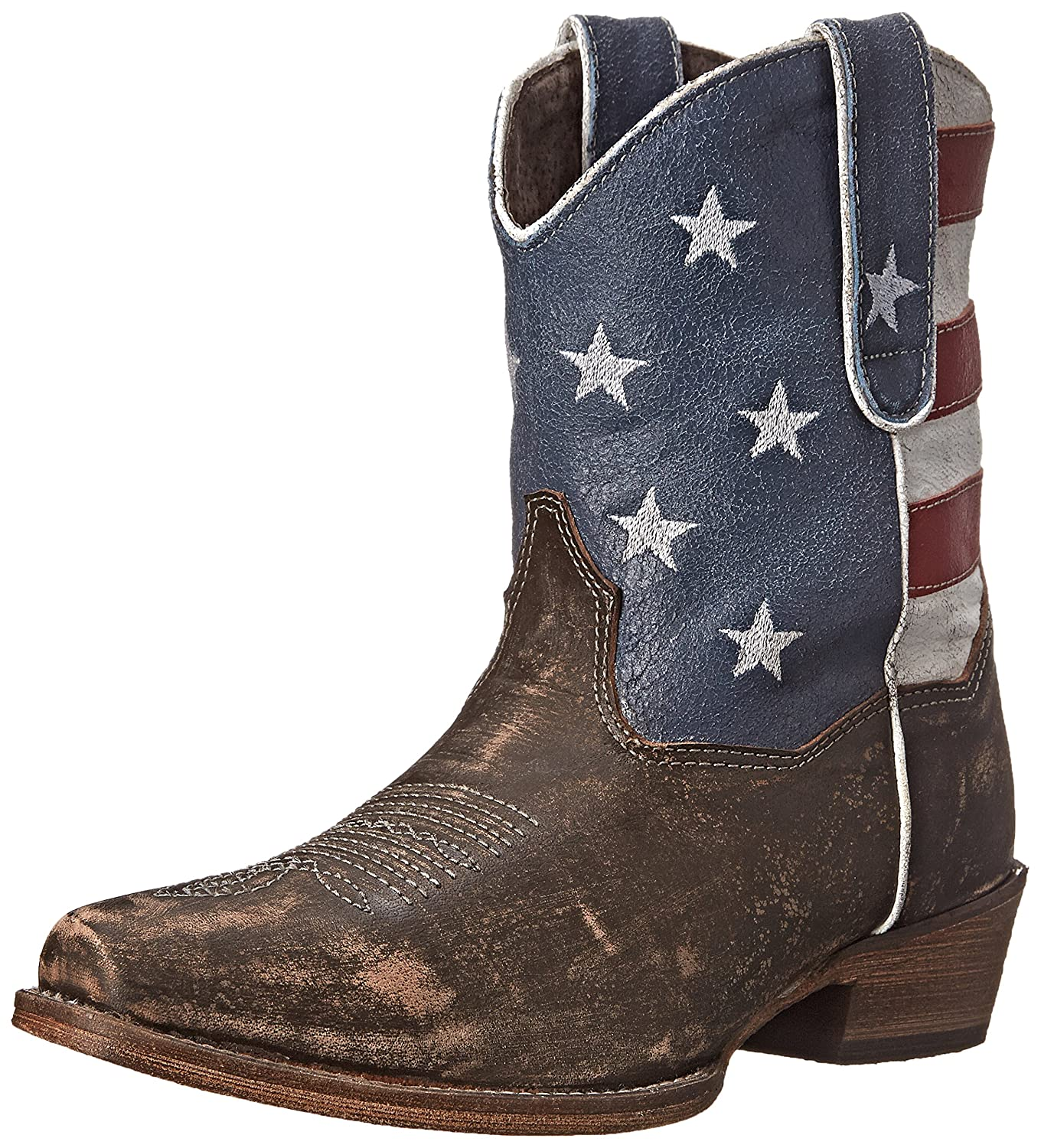 Roper Women's American Beauty Western Boot B00T07WRBY 8 B(M) US|Brown