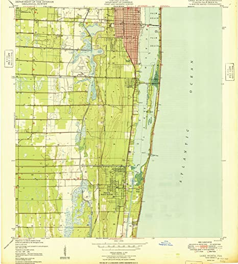 Map Of Lake Worth Florida.Amazon Com Lake Worth Fl Topo Map 1 24000 Scale 7 5 X 7 5 Minute