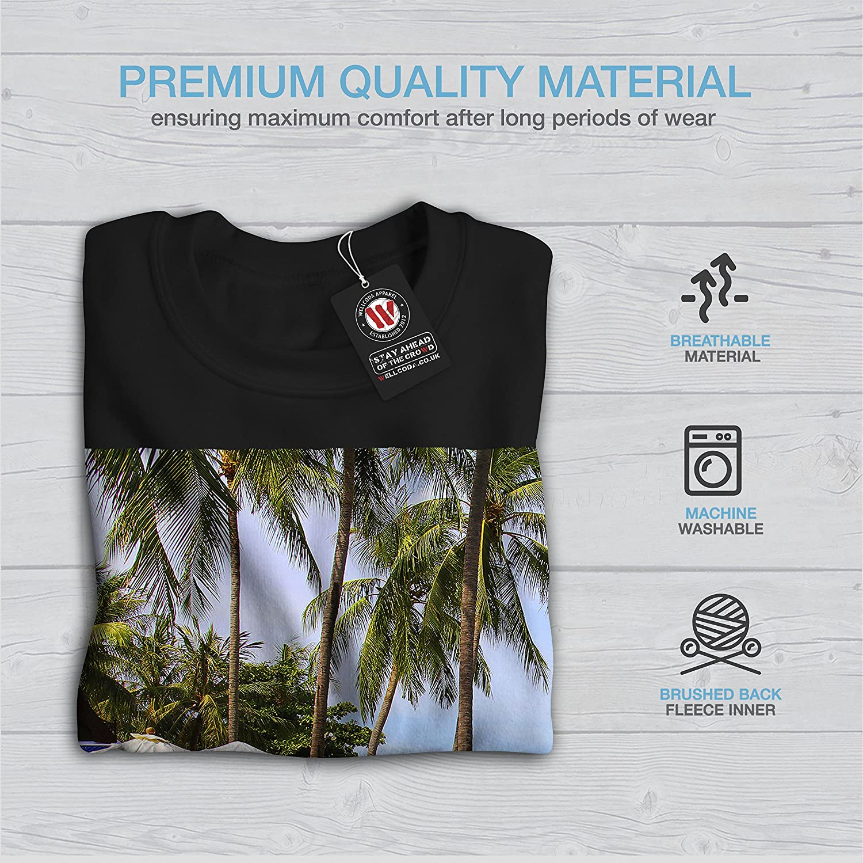 Big Casual Jumper wellcoda Tropical Beach Sun Nature Mens Sweatshirt