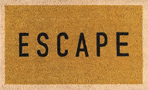 Novogratz Aloha Collection Escape Doormat, Gold, 1 6 x 2 6 , Gold
