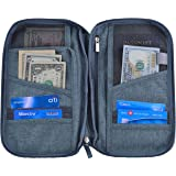 Hopsooken Travel Wallet & Passport Holder Organizer Rfid Blocking ID Card Pouch(Gray)
