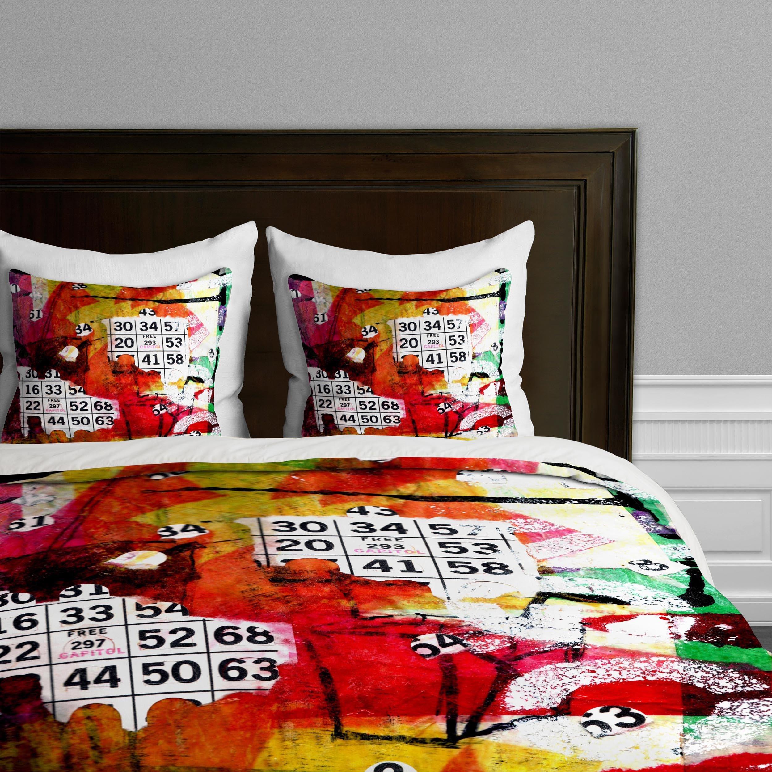Deny Designs  Sophia Buddenhagen Bright Bingo 2 Duvet Cover, Queen by Deny Designs