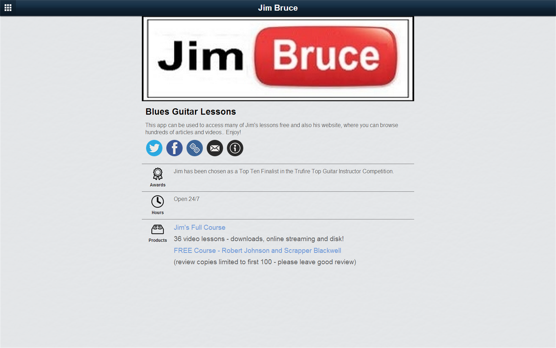 Acoustic Blues Guitar Lessons: Amazon.es: Appstore para Android