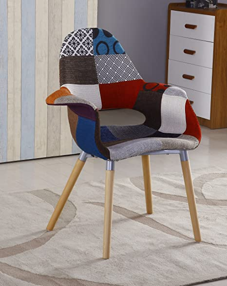 P&N Homewares Sillón tapizado patchwork retro, 1: Amazon.es ...