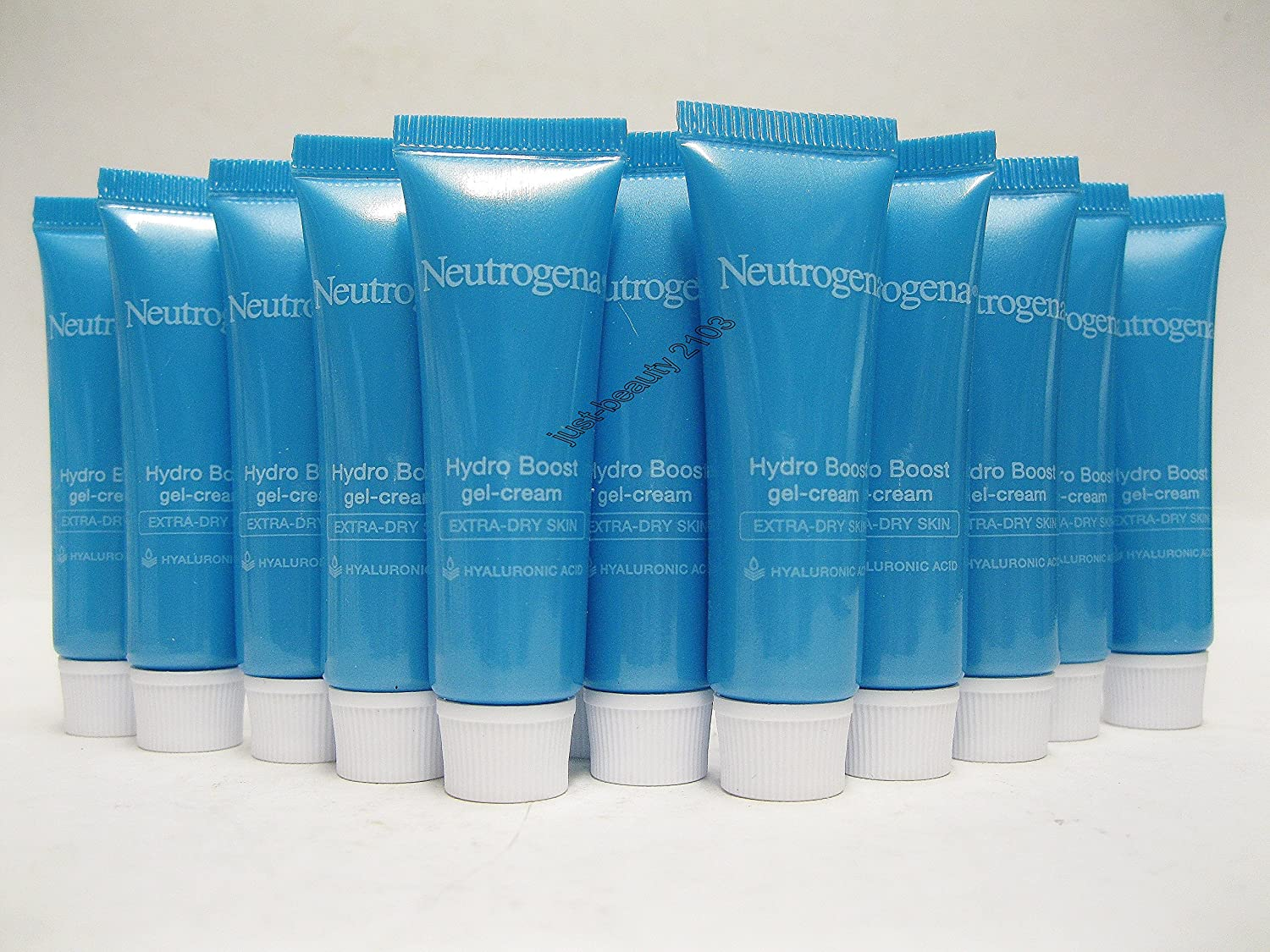 Neutrogena Hydro Boost Gel-Cream, 0 25oz For Neck and Face and Extra Dry  skin(Pack of 15 Tubes)