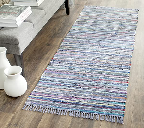 Safavieh-Rag-Rug-Collection-RAR121D-Hand-Woven-Purple-and-Multi-Cotton-Runner