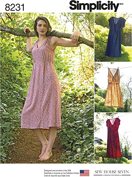Size 14-16-18-20-22 Simplicity Pattern 8231 R5 Misses Dress in Two Lengths by Sew House Seven