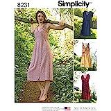 Simplicity 8231 Women's Summer Dress Sewing Pattern, 4 Styles, Sizes 14-22