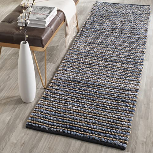 Safavieh Cape Cod Collection CAP365A Hand Woven Blue Jute Runner 2 3 x 8