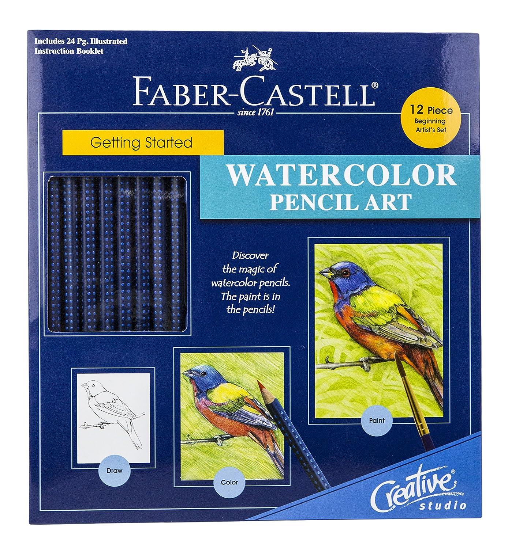 Amazon com faber castel creative studio getting started art kit watercolor pencil
