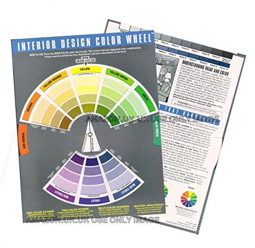 Interior Design Colour Wheel - Helps with Colour Scheme from One to Multi- Colour