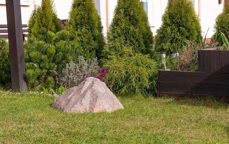 Piedra Grande Decorativa para el Jardín Exterior, Roca Artificial Hueca y Falsa para el Diseño y Campo de Patio, Oculta Utilidades, Cubre 38 Centímetros S-01 (Rojo): Amazon.es: Jardín