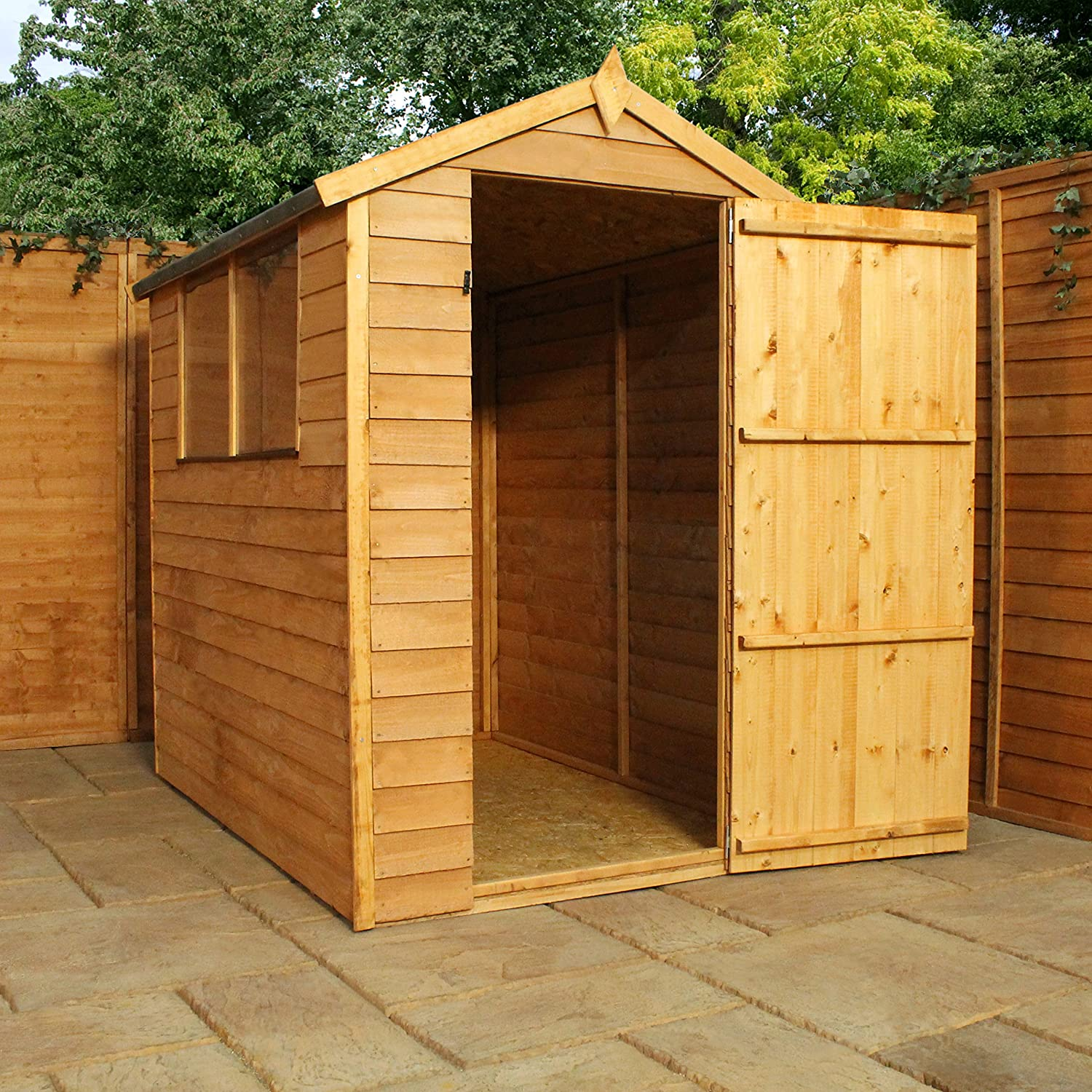Bon 6x4 Wooden Overlap Garden Storage Shed, Windows, Single Door, OSB, Apex  Roof, 6ft 4ft Free 3 5 Day Delivery + 10 Year Guarantee U0026 0% Finance* From  Waltons: ...