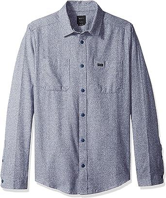 RVCA Hombre M553QRTW Manga Larga Camisa de Botones: Amazon.es: Ropa y accesorios