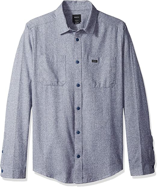 RVCA Mens Twisted Long Sleeve Button-Up Shirt