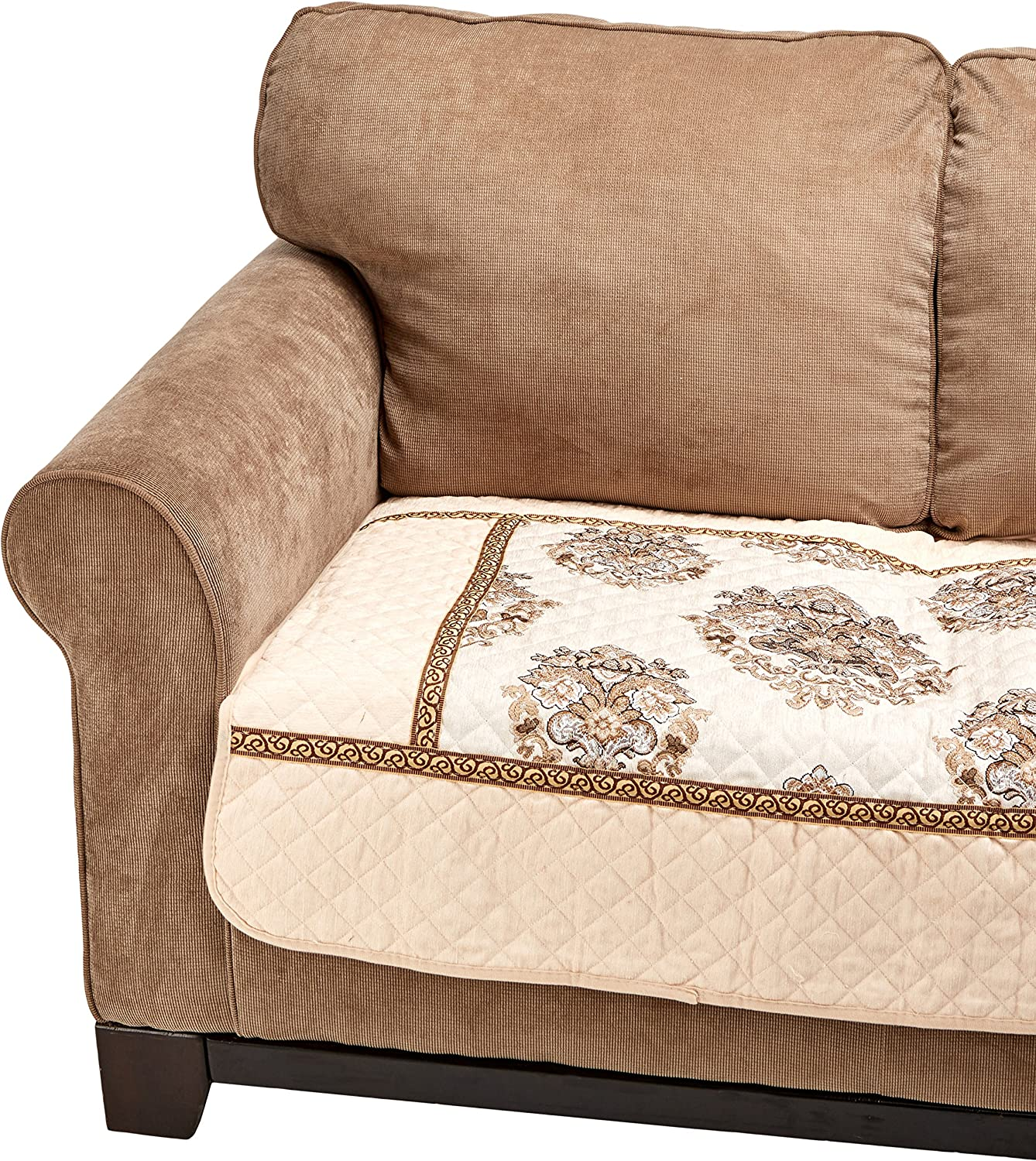 OctoRose Ofit Chenille Quilted Sectional Sofa Throw Pads Furniture Protector Sold by Piece Rather Than Set (Beige, 35x62)
