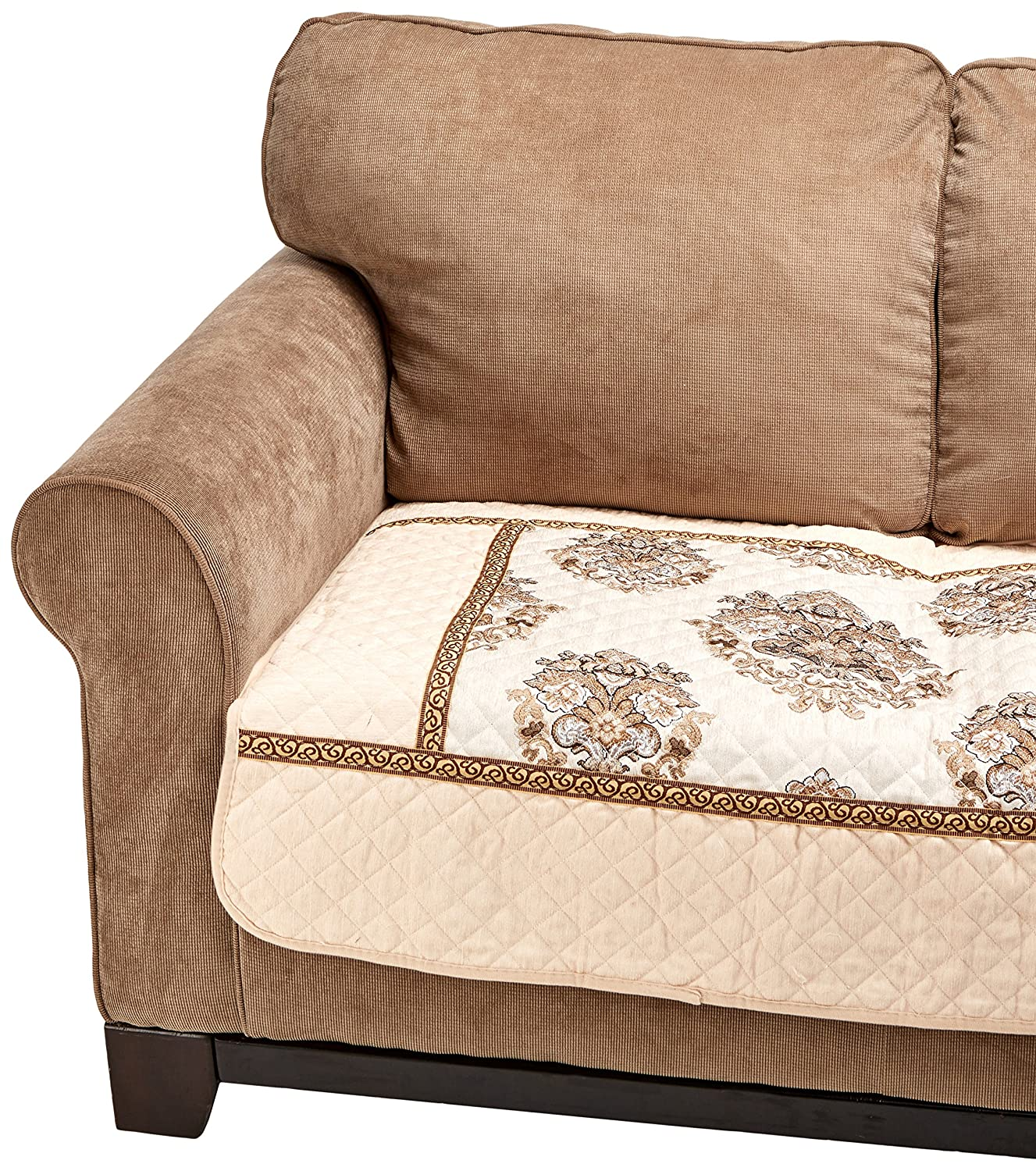 Amazon it Chenille Quilted Sectional Sofa Throw Pads