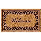 """Calloway Mills 102242436 Breaux Welcome Doormat, 24"""" x 36"""", Natural/Black"""