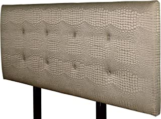 product image for MJL Furniture Designs Ali Padded Bedroom Headboard Contemporary Styled Bedroom Décor, Tillie Series Headboard, Mocha Finish, Queen Sized, USA Made