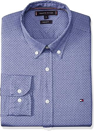 Tommy Hilfiger Camisa Jaspe Print Azul para Hombre XL Azul: Amazon.es: Ropa y accesorios