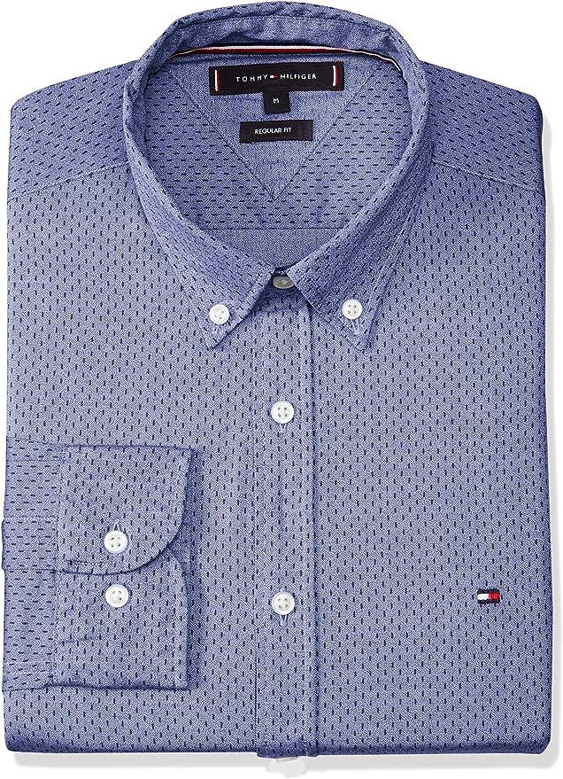 Tommy Hilfiger Camisa Jaspe Print Azul para Hombre