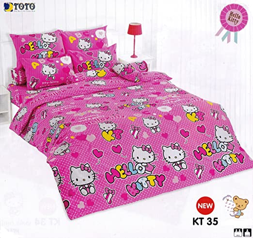 TOTO Hello Kitty - Set de sábana Bajera para Cama: Juego De ...