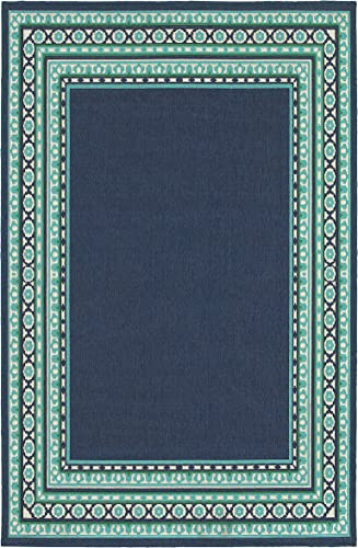 Oriental Weavers Meridian 6 7 x 9 6 Machine Woven Rug in Navy