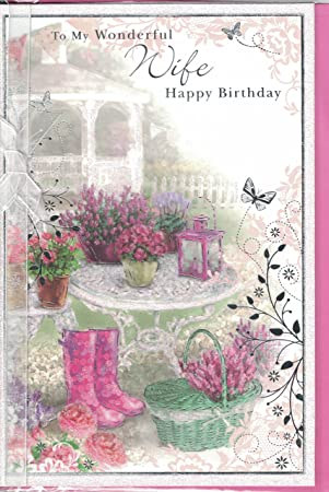 Cottage Garden Birthday Card Flowers