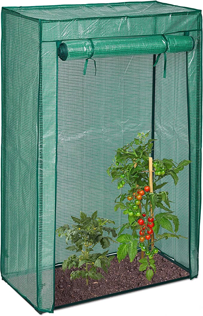 Folie 150x100x50 cm HxBxT stabiles Treibhaus Balkon u Garten transparent Relaxdays Tomatengew/ächshaus Stahlrohr u